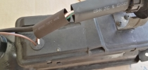 Rückseite Lichtband Schrumpfschlauch